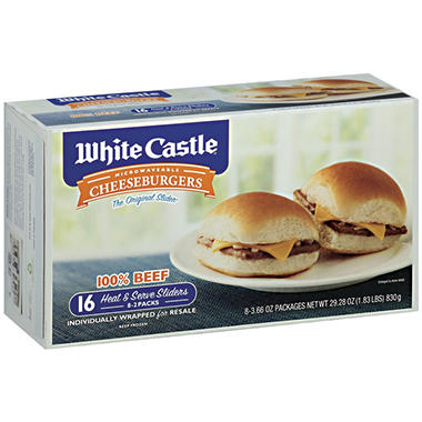 White Castle� Microwaveable Cheeseburgers - 29.28 oz.