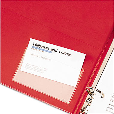 Cardinal - HOLDit! Poly Business Card Holders, Top Load, Clear - 10 Count