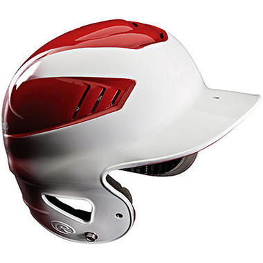 Rawlings Coolflo Highlight Batting Helmet - White/Red