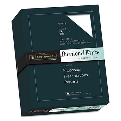 Southworth - Diamond White Fine Paper, 20lb, White - Ream