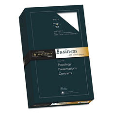 "Southworth - Fine Business Paper, 20lb, 8-1/2 x 14"", White - Ream"
