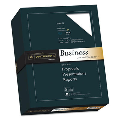 Southworth - Fine Business Paper, 24lb, Various Colors - Ream