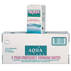 Aqua Literz Emergency Water - 12 ct. - 33 oz.