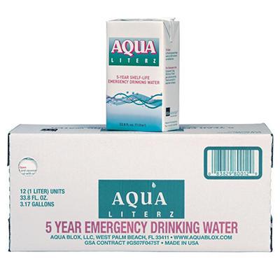 Aqua Literz Emergency Water - 12 ct. - 33 oz.
