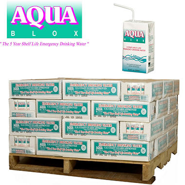 Aqua Blox Emergency Water - 1440 ct. - 8.45 oz. (1/2 pallet - 60 cs.)