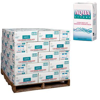 Aqua Literz Emergency Water - 33 oz. - 900 ct.