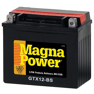 Magna Power� Power Sports Battery - Group Size 12BS