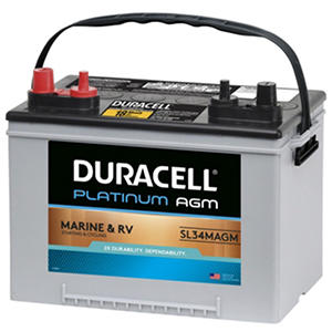 Duracell® AGM Deep Cycle Marine and RV Battery - Group Size 34M