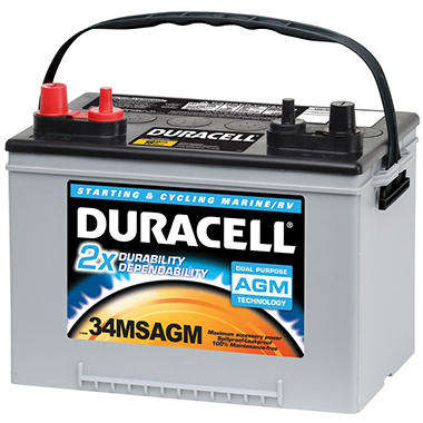 Duracell® AGM Starting & Cycling  Marine / RV Battery - Group Size 34MSAGM