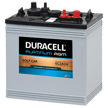 Duracell® AGM Golf Car Battery - Group Size GC2