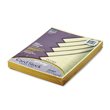 Pacon - Array Colored Card Stock, 65lb, Ivory - 100 Sheets