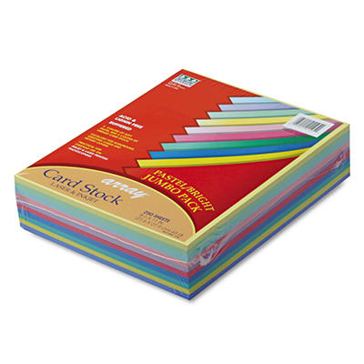 Pacon - Array Colored Card Stock, 65lb, Assortment - 250 Sheets