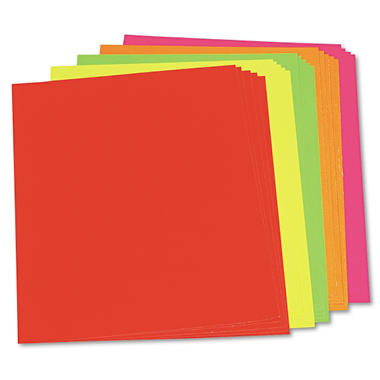 Riverside Paper� Assorted Neon Color Poster Board