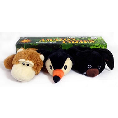 think!dog Amazon Cozies Dog Toys - 3 pk.