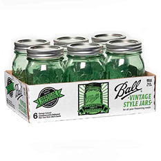 Ball Heritage Collection Pint Jars, Regular Mouth - Assorted Colors and Sizes