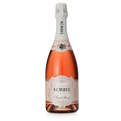Korbel Brut Sweet Rose Champagne - 750 ml