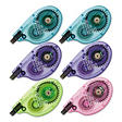 "Tombow - MONO Correction Tape, Assorted Retro Color Dispensers, 1/6"" x 394"" - 6 Pack"