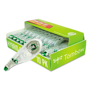 "Tombow? MONO Hybrid Style Correction Tape, 1/6"" x 394"", Non-Refillable, 10pk."