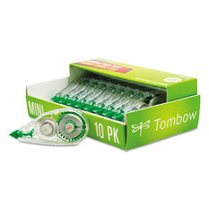 "Tombow - MONO Mini Correction Tape, 1/6"" x 315"", Non-Refillable -  10/Pack"