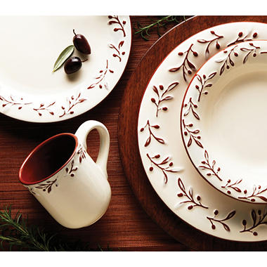 Rustic Leaf 16 pc. Dinnerware Set
