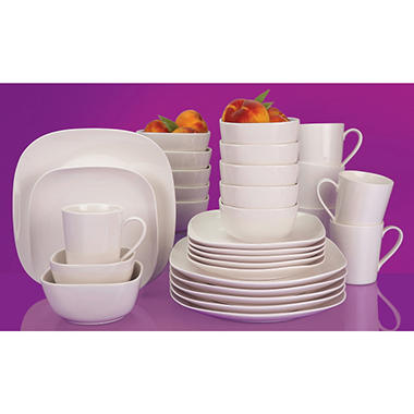 Regency 30 pc. Square Porcelain Dinnerware Set