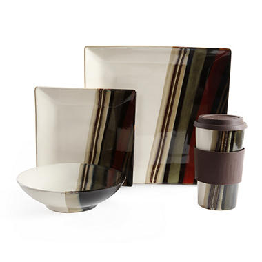 Tampa Stripe 16 pc. Dinnerware Set