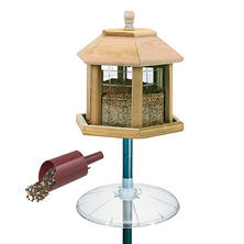 Le Grand Gazebo 20 lb. Seed Feeder with Pole, Baffle & Scoop