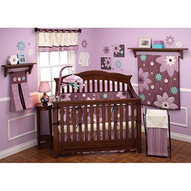 NoJo Crib Bedding Set, 10 pc.  - Plum Dand