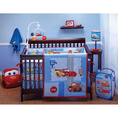Car Crib Bedding Set Baby Cars Little Racer Four Piece