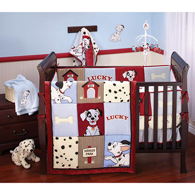 Crown Craft Baby Crib Bedding Set, 6 pc. - 101 Dalmations