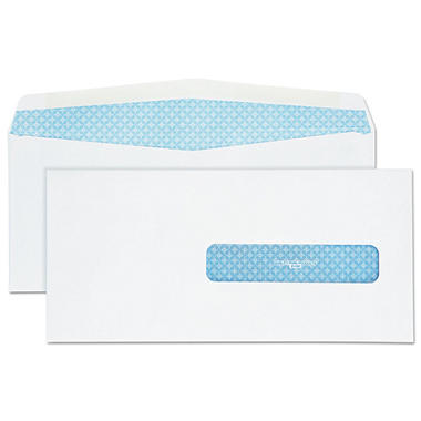 Quality Park - Health Form Gummed Security Envelope, #10, White - 500/Box