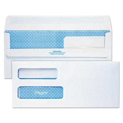 Quality Park - Redi-Seal Envelopes, #10 (4-1/8 X 9-1/2) - Double Window