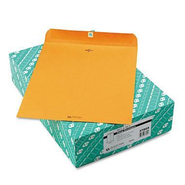 Quality Park - Clasp Envelope, 11 1/2 x 14 1/2, Brown Kraft - 100/Box