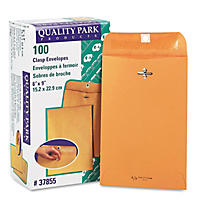 Quality Park - Clasp Envelope, 6 x 9, Brown Kraft - 100/Box