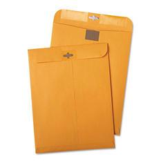 Quality Park - Postage Saving ClearClasp Kraft Envelopes, 9 x 12, Brown Kraft -  100/Box