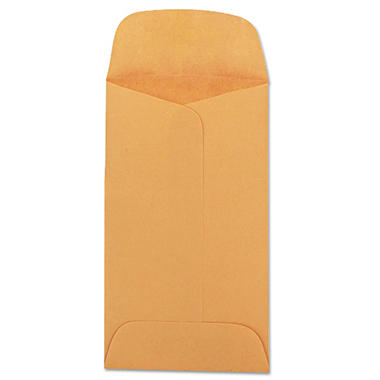 Quality Park Kraft Coin & Small Parts Envelopes - Side Seam - #3 - Light Brown - 500 ct.