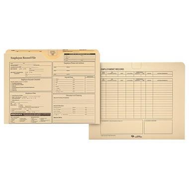 Quality Park Employee Record Folder - 20 pk.