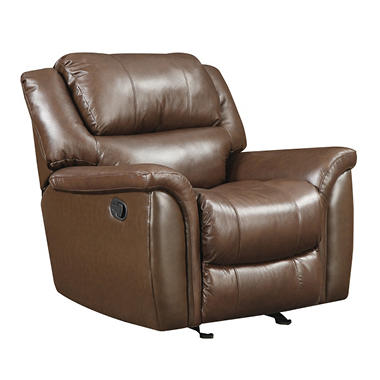 Harper Leather Glider Recliner