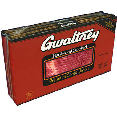 Gwaltney® Premium Sliced Bacon - 1 lb. - 3 pkgs.