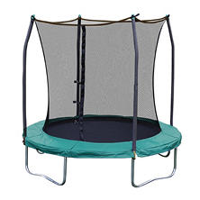 Skywalker Trampolines 8' Round Trampoline and Enclosure - Green