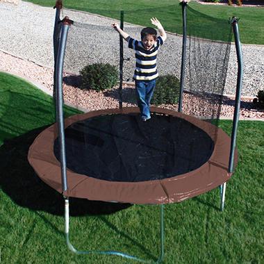 Skywalker Trampolines 10' Round Trampoline and Enclosure - Brown