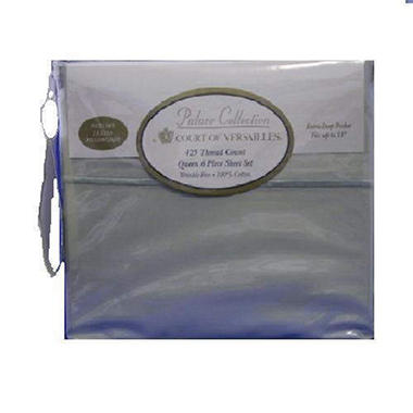 Court of Versailles Queen Sheet Set - Sage