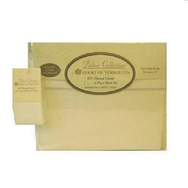 Court of Versailles King Sheet Set - Ivory