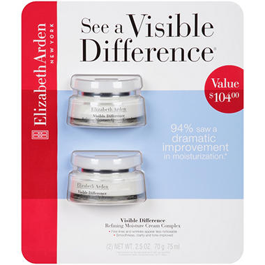 Elizabeth Arden Visible Difference Refining Moisture Cream Complex - 2.5 oz. - 2 pk.