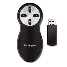 Kensington - Wireless Presentation Remote, Integrated Laser Pointer, Projects 65 Feet -  Black
