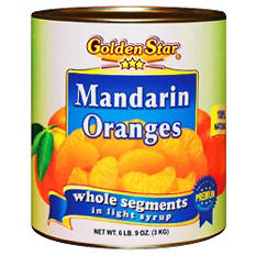 Golden Star Mandarin Oranges in Light Syrup (105 oz. can)