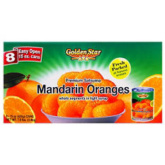 Golden Star Mandarin Oranges in Light Syrup (15 oz. cans, 8 ct.)