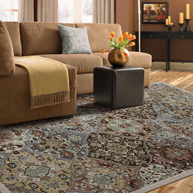 Kirman Coast Area Rug - Peat Moss