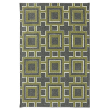 Engraved Area Rug - Pewter