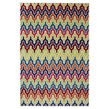 Flame Stitch Area Rug .
